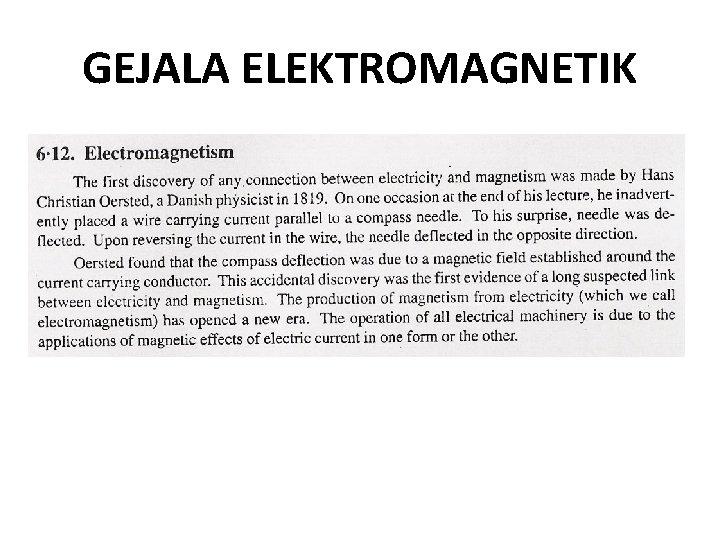 GEJALA ELEKTROMAGNETIK