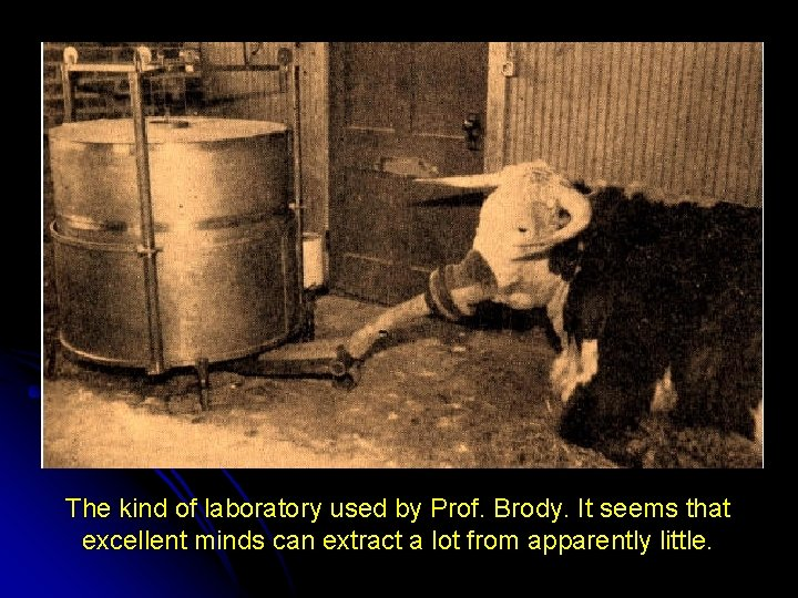 The kind of laboratory used by Prof. Brody. It seems that excellent minds can