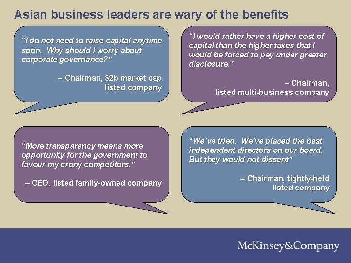 """Asian business leaders are wary of the benefits """"I do not need to raise"""