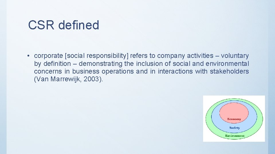 Corporate Social Definition