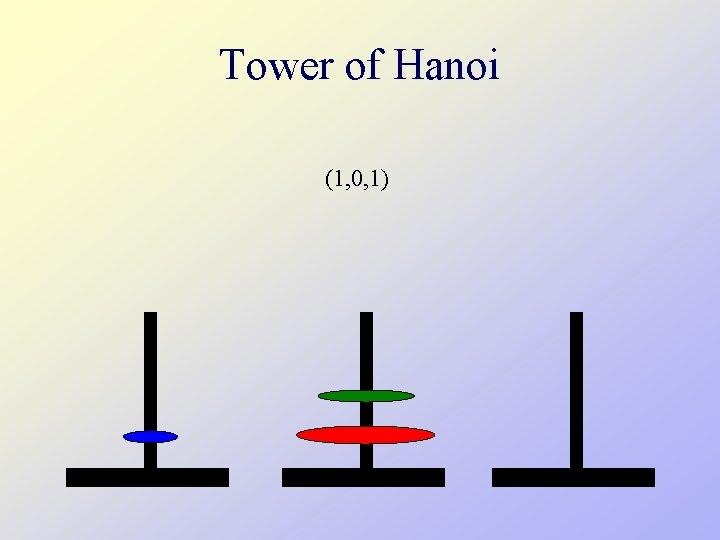 Tower of Hanoi (1, 0, 1)