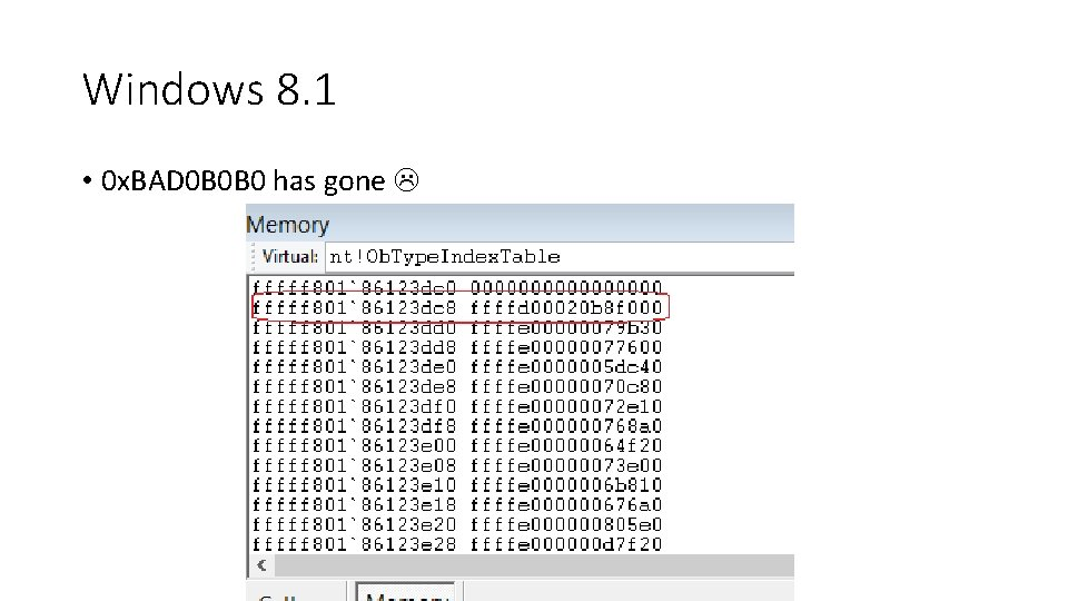 Windows 8. 1 • 0 x. BAD 0 B 0 B 0 has gone