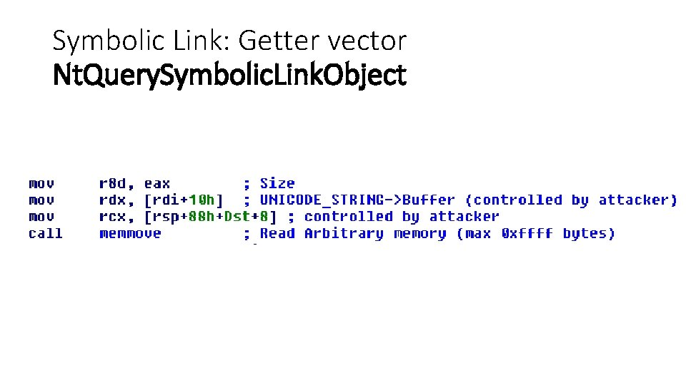Symbolic Link: Getter vector Nt. Query. Symbolic. Link. Object