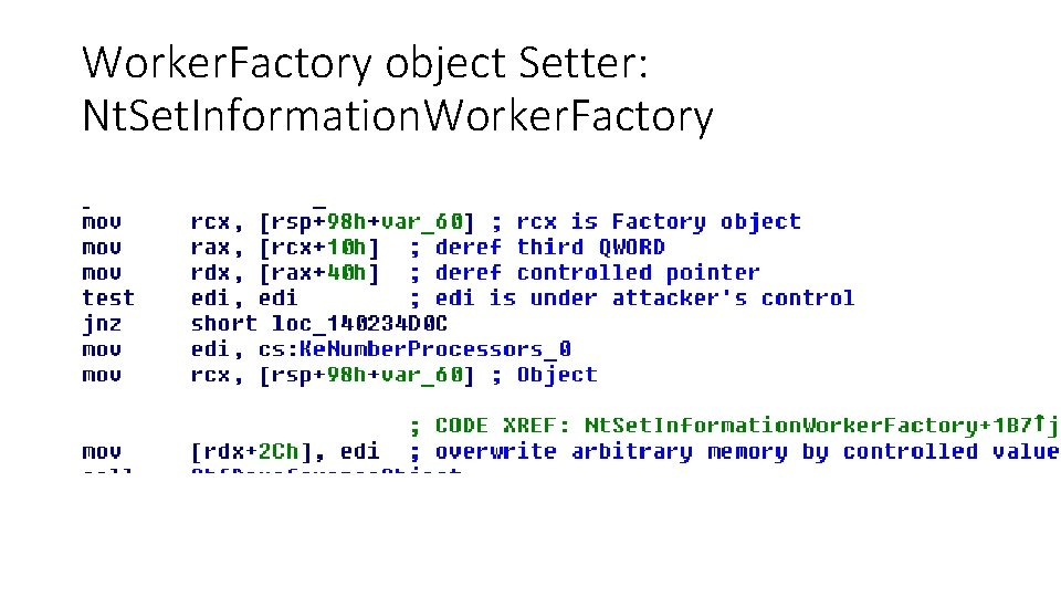 Worker. Factory object Setter: Nt. Set. Information. Worker. Factory