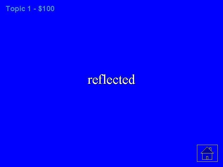 Topic 1 - $100 reflected