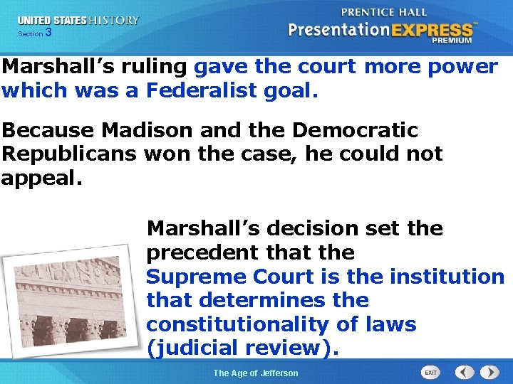 325 Section Chapter Section 1 Marshall's ruling gave the court more power which was