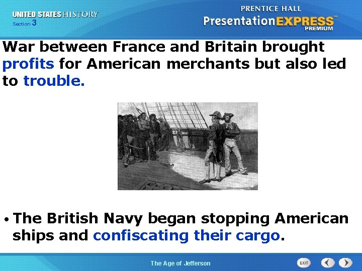 325 Section Chapter Section 1 War between France and Britain brought profits for American