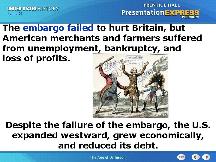 325 Section Chapter Section 1 The embargo failed to hurt Britain, but American merchants