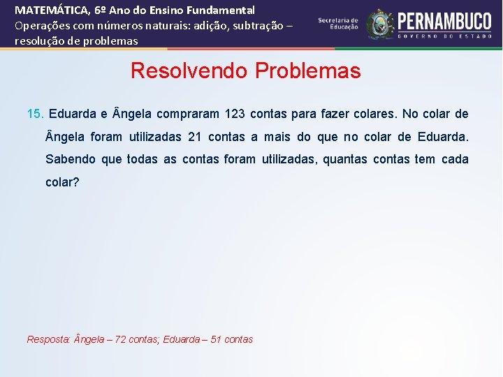 Matemtica E Suas Tecnologias Matemtica Ensino Fundamental 6