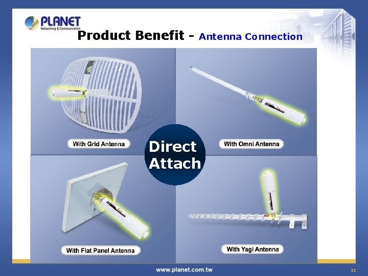 Product Benefit - Antenna Connection Direct Attach 11