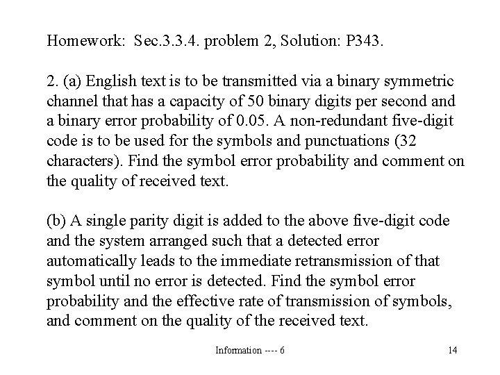 Homework: Sec. 3. 3. 4. problem 2, Solution: P 343. 2. (a) English text