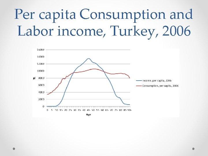 Per capita Consumption and Labor income, Turkey, 2006