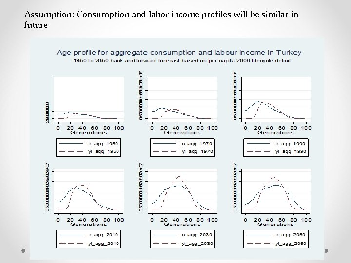 Assumption: Consumption and labor income profiles will be similar in future
