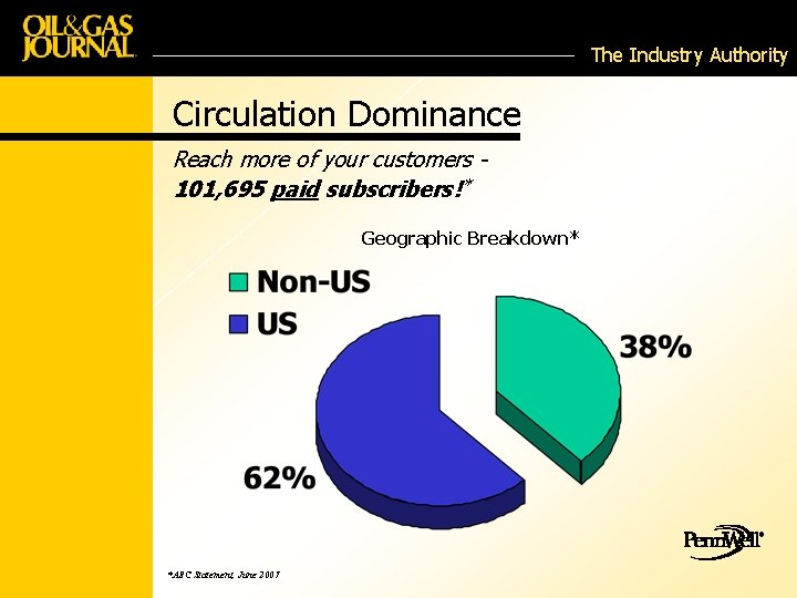 The Industry Authority Circulation Dominance Reach more of your customers 101, 695 paid subscribers!*