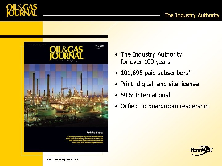 The Industry Authority • The Industry Authority for over 100 years • 101, 695
