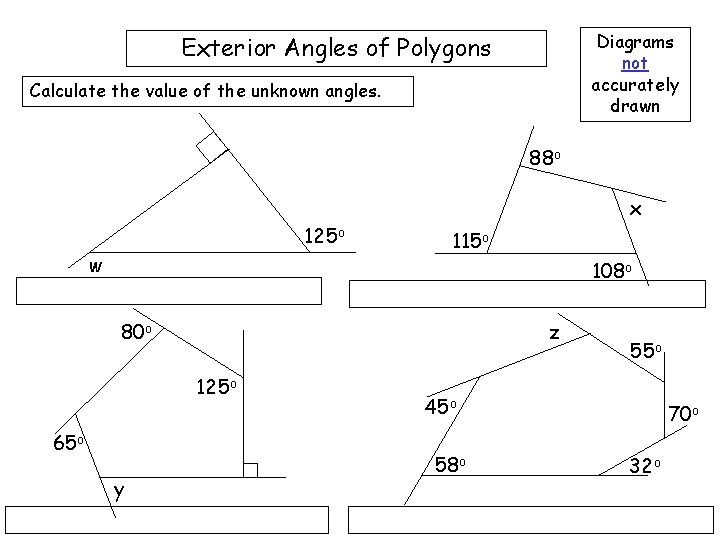 Exterior Angles Of Polygons Interior Angles Exterior Angles