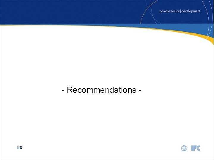 - Recommendations - 16