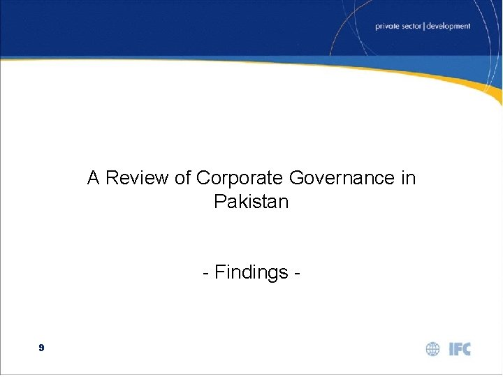 A Review of Corporate Governance in Pakistan - Findings - 9