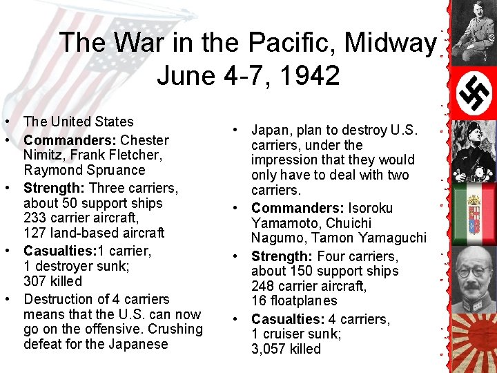 The War in the Pacific, Midway June 4 -7, 1942 • The United States