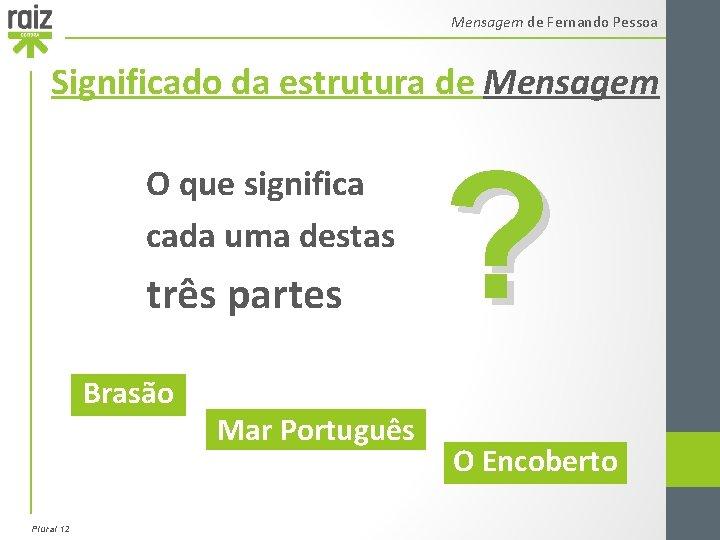 Mensagem de Fernando Pessoa Significado da estrutura de Mensagem O que significa cada uma