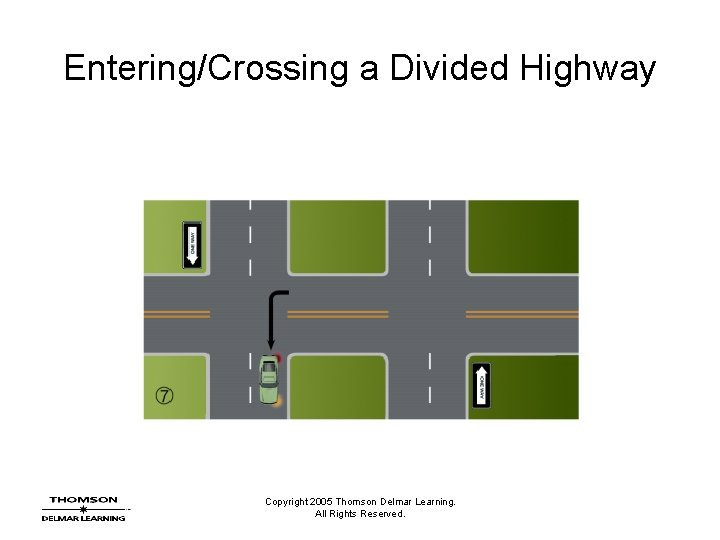 Entering/Crossing a Divided Highway Copyright 2005 Thomson Delmar Learning. All Rights Reserved.