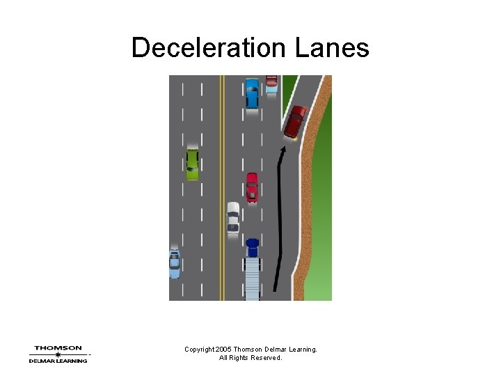 Deceleration Lanes Copyright 2005 Thomson Delmar Learning. All Rights Reserved.