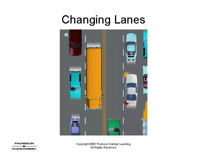 Changing Lanes Copyright 2005 Thomson Delmar Learning. All Rights Reserved.
