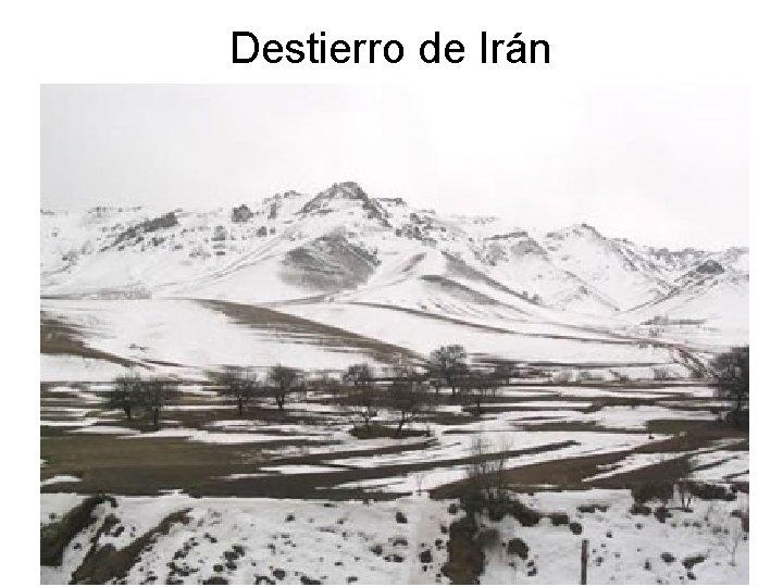 Destierro de Irán