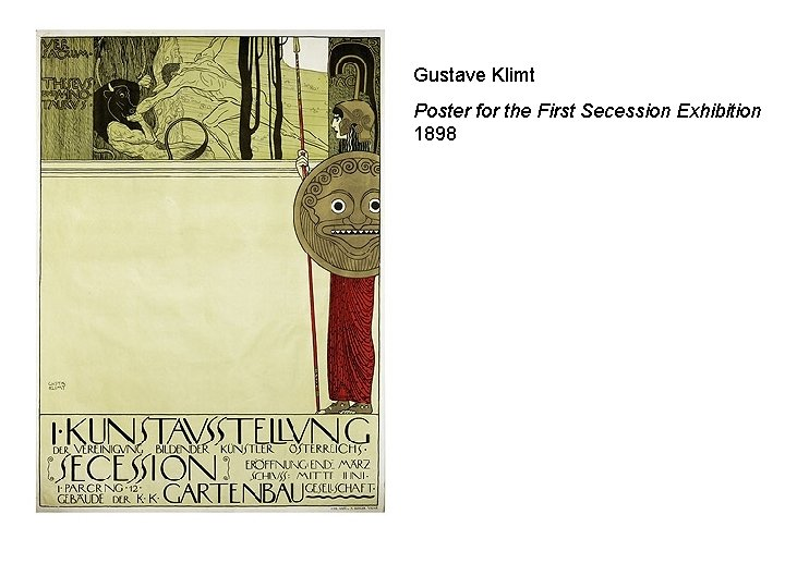 Gustave Klimt Poster for the First Secession Exhibition 1898