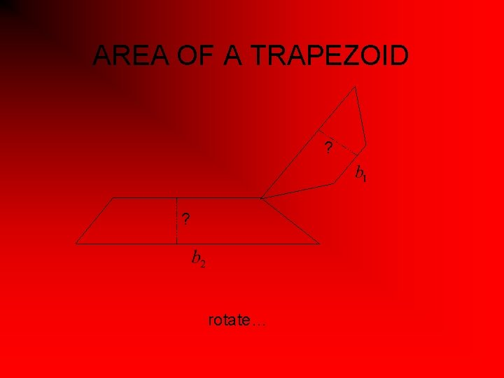 AREA OF A TRAPEZOID ? ? rotate…