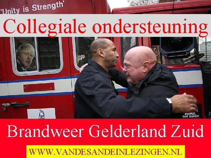 Collegiale ondersteuning Brandweer Gelderland Zuid Ochten 19 November 2015 WWW. VANDESANDEINLEZINGEN. NL
