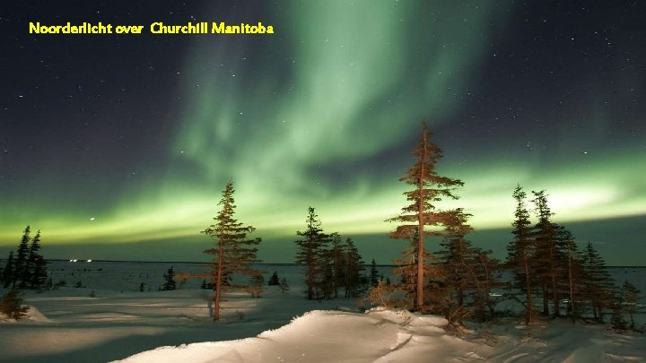 Noorderlicht over Churchill Manitoba