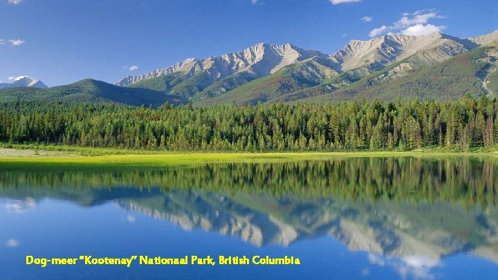 """Dog-meer """"Kootenay"""" Nationaal Park, British Columbia"""