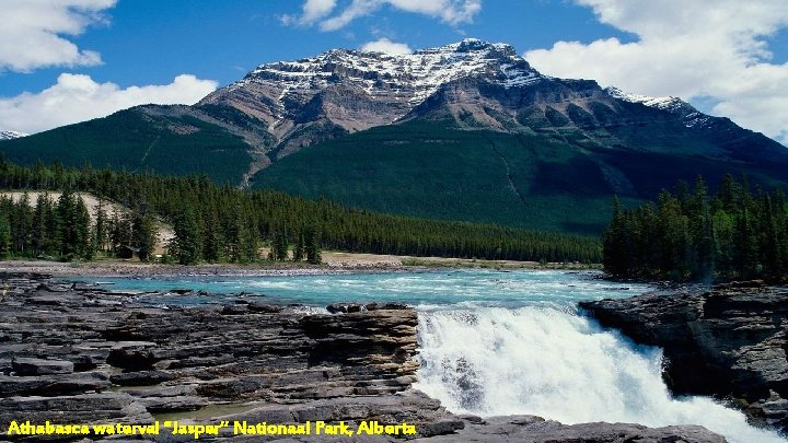 "Athabasca waterval ""Jasper"" Nationaal Park, Alberta"