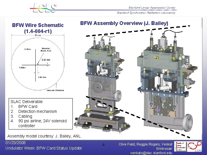 BFW Wire Schematic (1. 4 -004 -r 1) BFW Assembly Overview (J. Bailey) SLAC