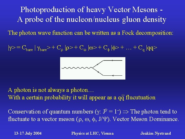 Photoproduction of heavy Vector Mesons A probe of the nucleon/nucleus gluon density The photon