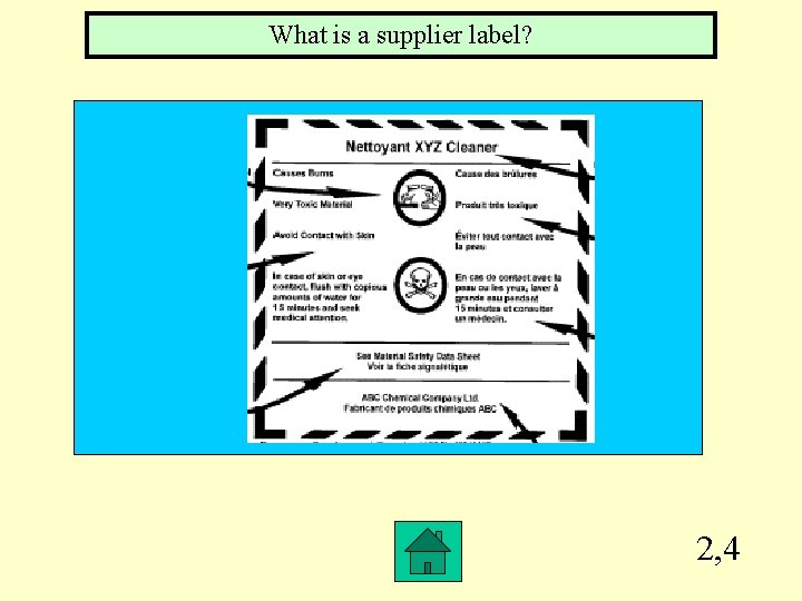 What is a supplier label? 2, 4
