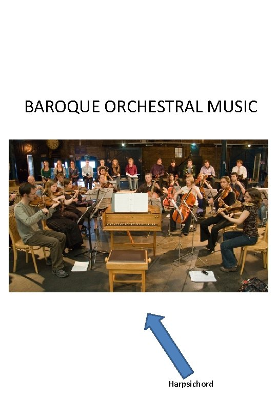 BAROQUE ORCHESTRAL MUSIC Harpsichord