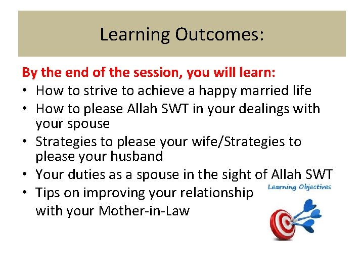 Learning Outcomes: By the end of the session, you will learn: • How to