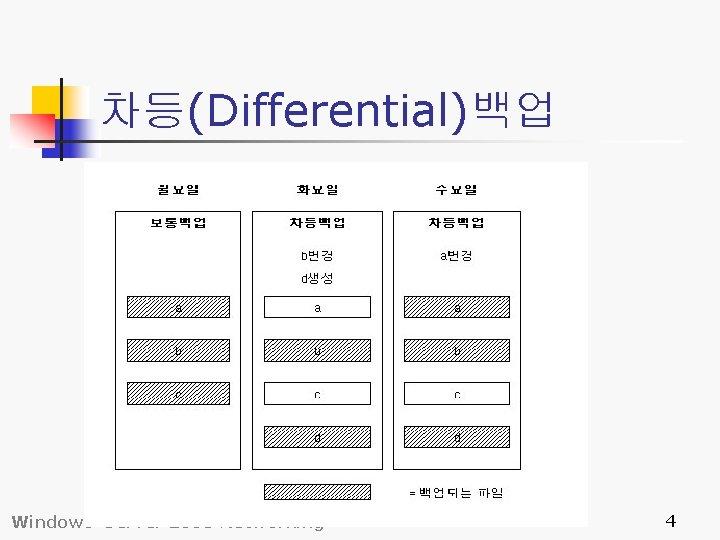차등(Differential)백업 Windows Server 2003 Networking 4