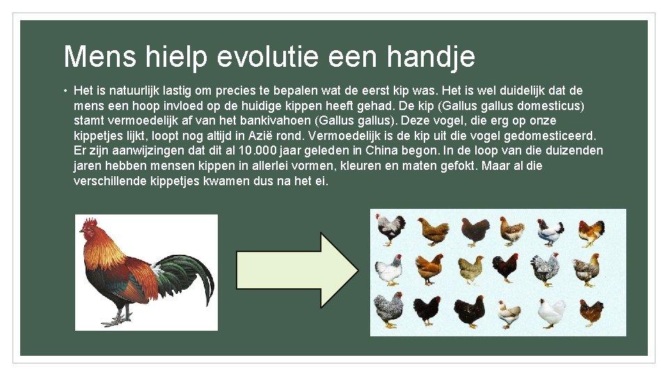 Mens hielp evolutie een handje • Het is natuurlijk lastig om precies te bepalen
