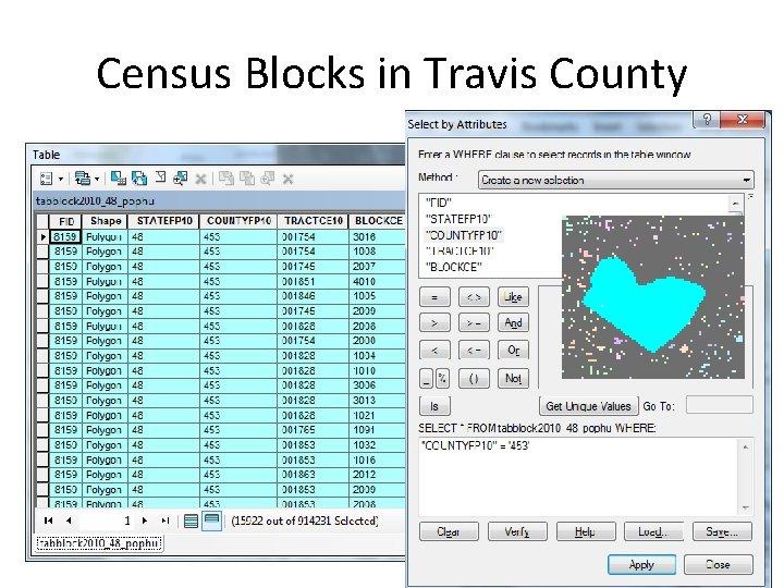 Census Blocks in Travis County