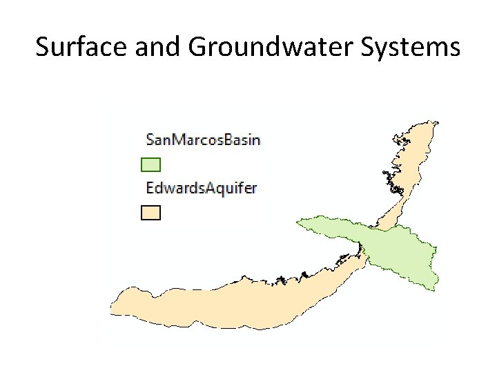 Surface and Groundwater Systems