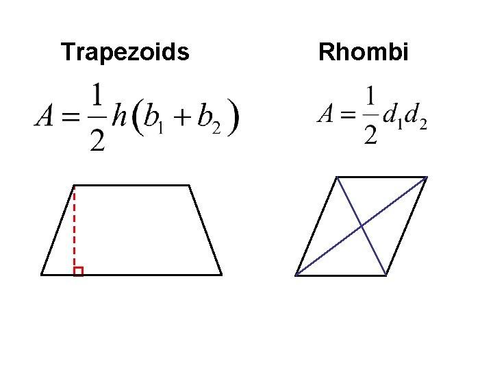 Trapezoids Rhombi