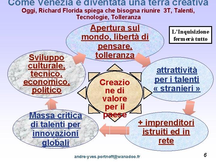 Come Venezia è diventata una terra creativa Oggi, Richard Florida spiega che bisogna riunire