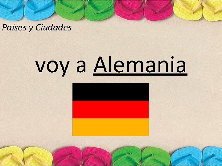 Países y Ciudades voy a Alemania