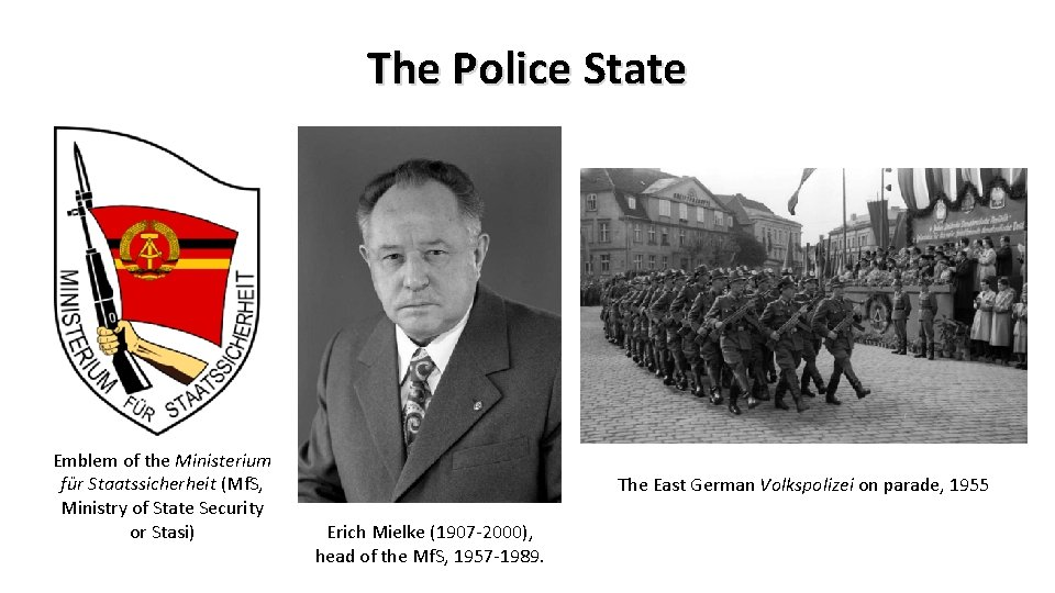The Police State Emblem of the Ministerium für Staatssicherheit (Mf. S, Ministry of State