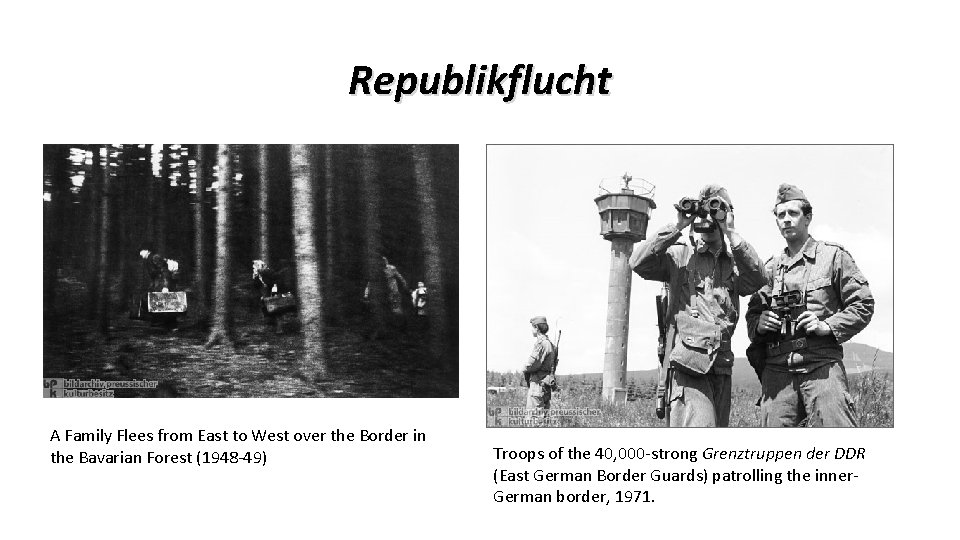 Republikflucht A Family Flees from East to West over the Border in the Bavarian