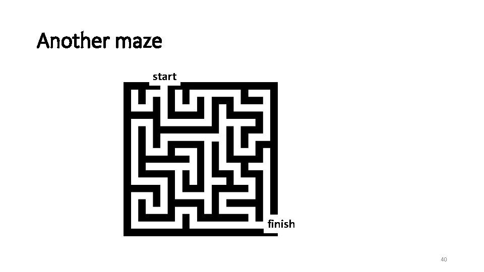 Another maze start finish 40