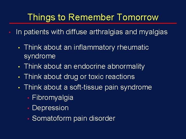 arthralgia myalgia syndrome